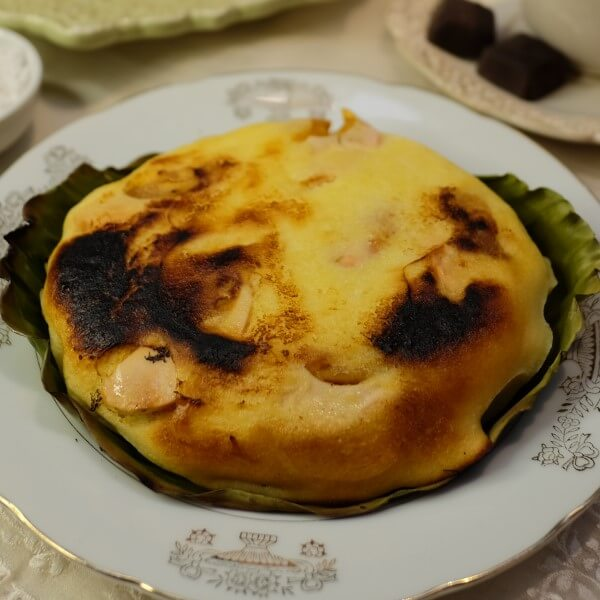 Bibingka with Cheese and Salted Egg