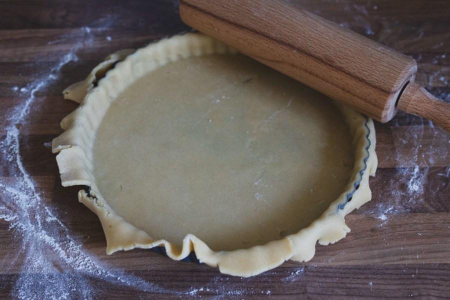trim the edges of the tart dough