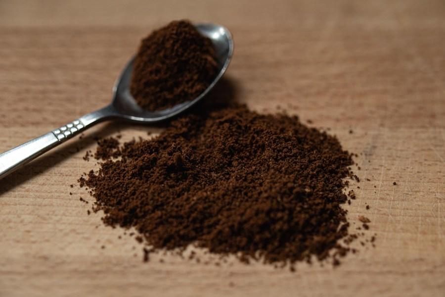 coffee ground for a moka pot