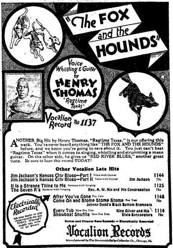 Henry Thomas: The Fox And The Hounds