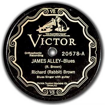Richard Rabbit Brown: James Alley Blues