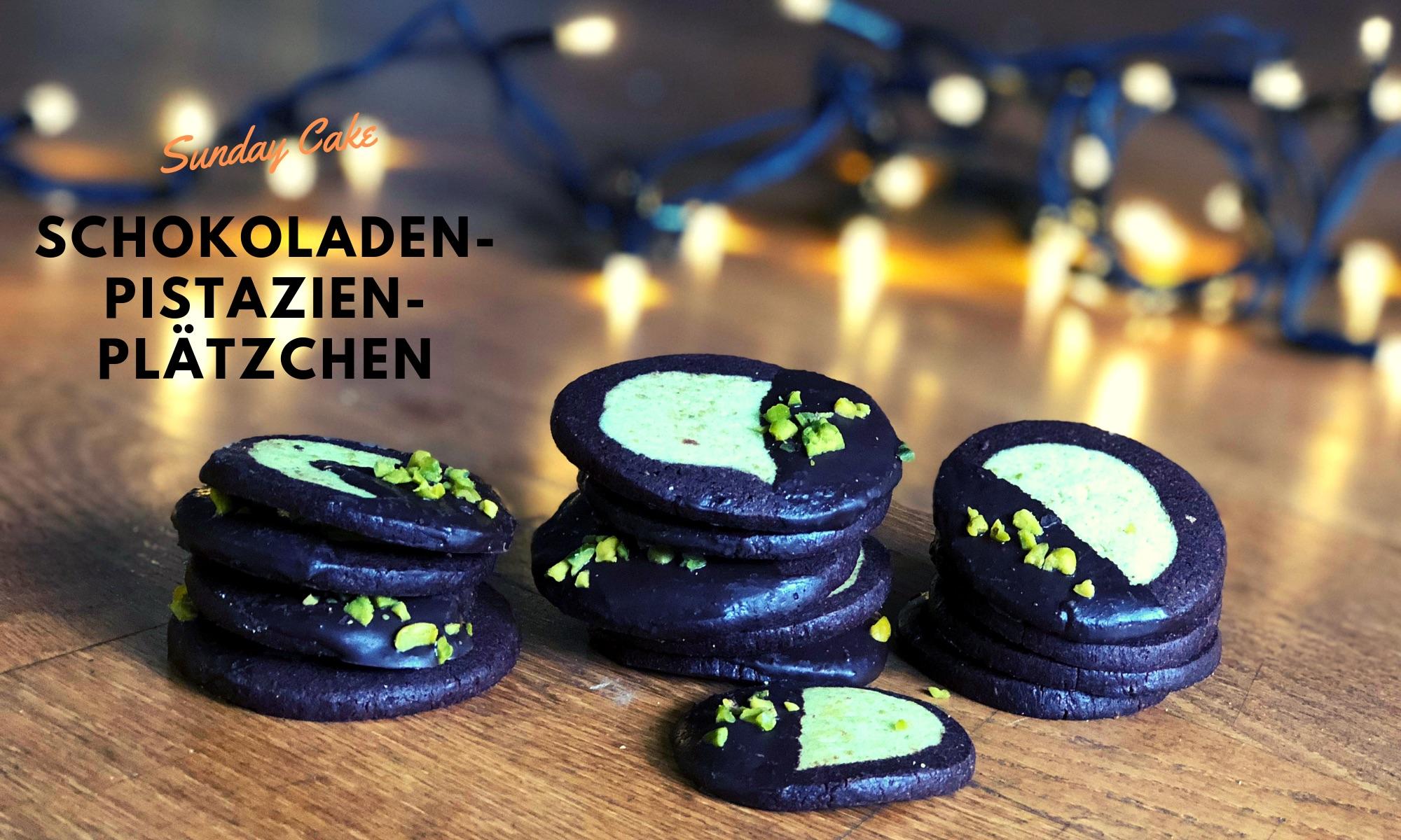Schokoladen-Pistazien-Plätzchen
