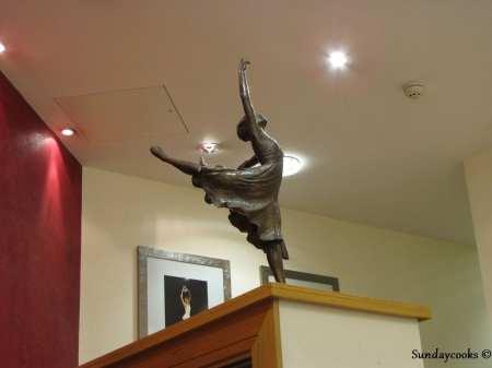 recepção da escola de ballet da Royal