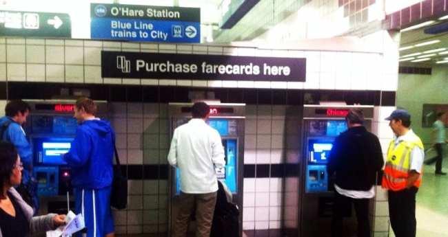 Metro de Chicago - Ventra Card - Novas máquinas