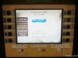 metrô de chicago - como comprar passes - tela 1