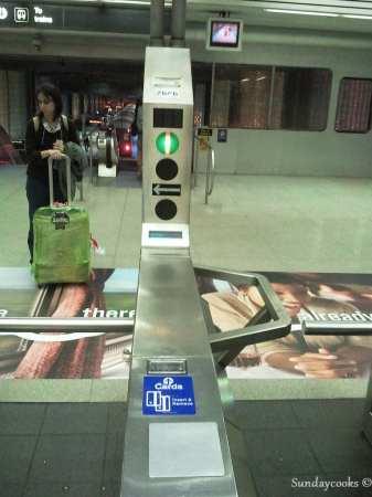 metrô de chicago - catraca