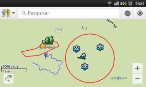 Scribble Maps - tela no smartphone