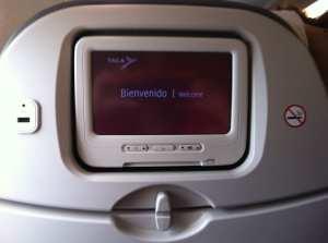 Como é voar de TACA - entretenimento de bordo nos voos internos