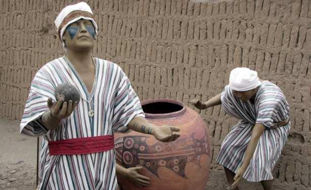 sitios arqueológicos de lima: Huaca Pucllana - sacerdotes
