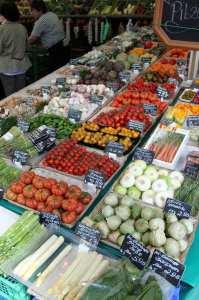 Viktualienmarkt Munique - verduras