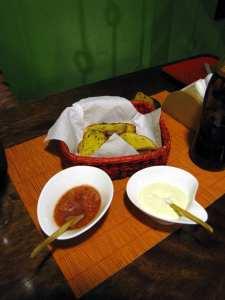 """Justina: Pizzaria em Cusco - Patê de alho """"dorgas, manolo"""""""