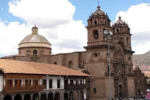 Boleto religioso de Cusco - outra vista do Templo de la Compañía de Jesus