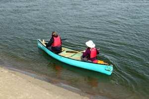 CanoeSki - Romy e sua instrutora