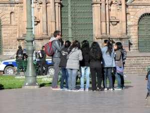 Cenas de Cusco - Para ser famoso em Cusco, basta ser turista