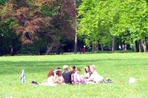 English Garden de Munique - piquenique