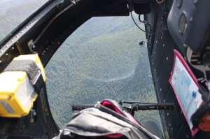 Essa é a janela que foca nos pés do piloto e co-piloto