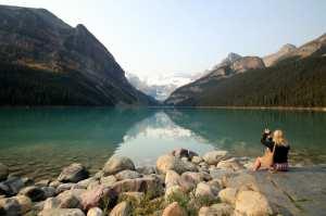 Lagos do Canada - Vista inicial do Lake Louise