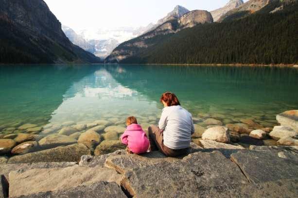 Lagos do Canadá - Lake Louise, uma mãe e uma filha :D