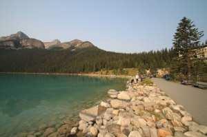 Lagos do Canada - Margem direita do Lake Louise