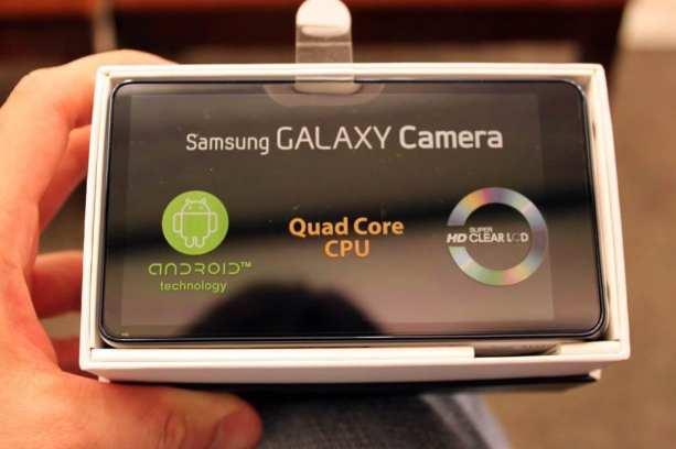 Samsung Galaxy Camera - tela