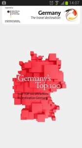 Top 100 Germany - tela inicial