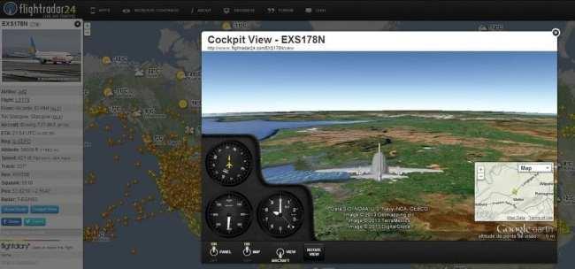 FlightRadar24 - acompanhando o vôo de perto