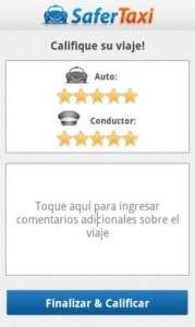 Apps de Táxi - Safer Taxi - dê uma nota para o taxista