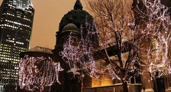 Natal e ano novo na neve de Montreal - Enfeites