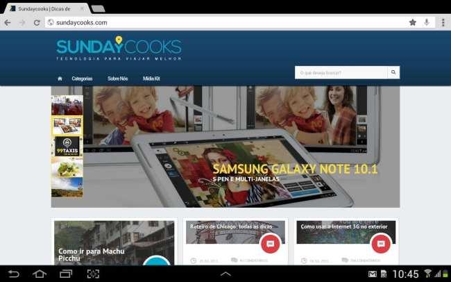 Sundaycooks SundayMobile - Tablet deitado 01