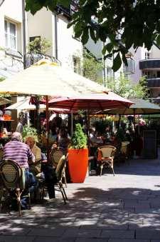 Centro histórico de Munique - Restaurante a caminho da Karlsplatz