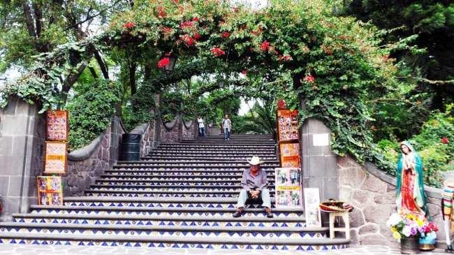 Basílica de Guadalupe - escadaria