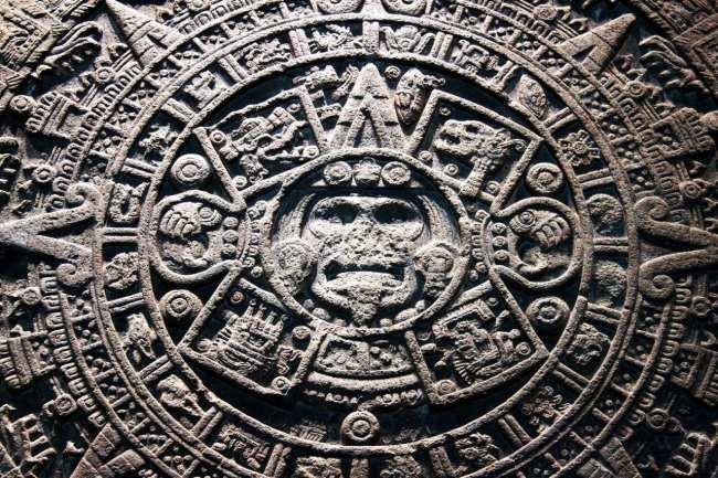 Museu Nacional de Antropologia - Detalhes da Pedra do Sol Asteca