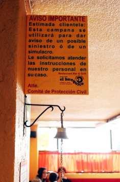 Restaurantes na Cidade do México - Plaquinha interessante