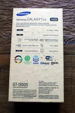 Samsung Galaxy S4 - parte de trás da caixa