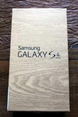 Samsung Galaxy S4 - parte da frente da caixa