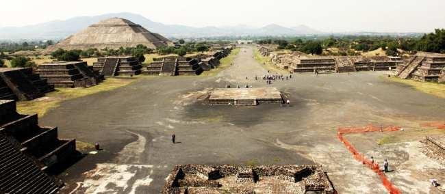 Teotihuacán - Vista de cima do Templo da Lua