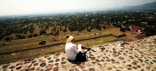 Teotihuacán - Pintando a paisagem