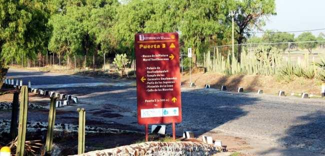 Como ir a Teotihuacán - Portão 3