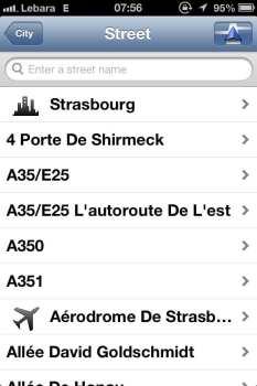App de GPS TomTom - Escolhendo o endereço