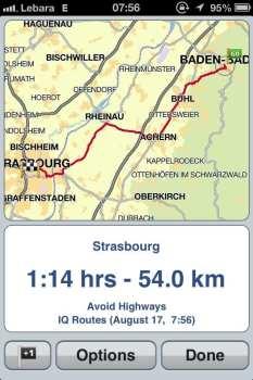 App de GPS TomTom - Visualizando a rota