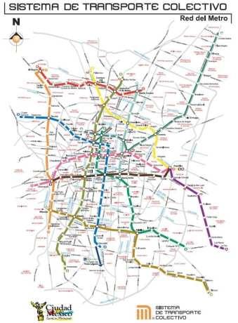 Como usar o metrô da Cidade do México - mapa