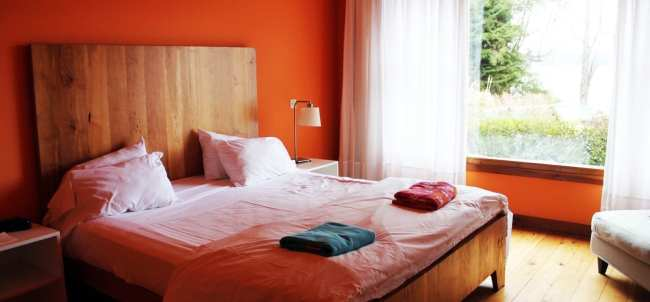 Hotéis Villa la Angostura - Correntoso: Chá da tardeHotéis Villa la Angostura - La Escondida: quarto