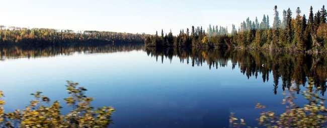 Viajar de trem no Canadá - The Canadian - paisagem dos lagos 4