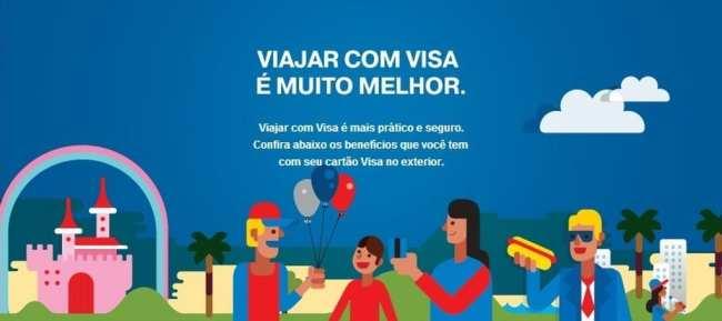 Viajar com cartão Visa