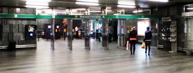 Como usar o metrô de Praga - Estação Malostranska