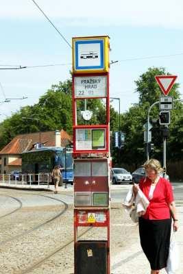 Como usar o metrô de Praga - Ponto do Tram / Bondinho
