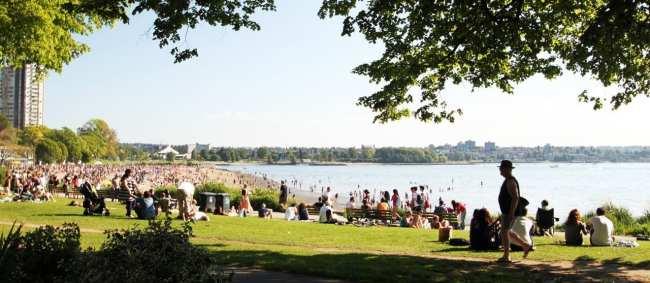 Dicas e roteiros de Vancouver - Pegando uma praia