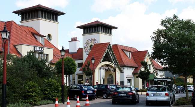 Outlets da Alemanha - Wertheim Village - Estacionamento