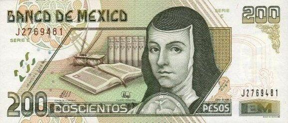 Qual moeda levar para o México - 200 pesos frente modelo antigo