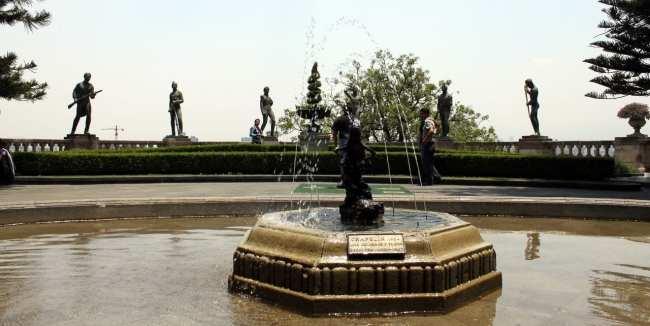 Roteiro pelo Bosque de Chapultepec - Fontes do castelo